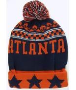 Atlanta Men's Thick Warm Winter Knit Cuffed Beanie Toboggam Hat Red/Navy... - $11.95