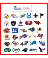 NFL Address Labels Football Return Address Labels, PATRIOTS, EAGLES, SUP... - $1.75