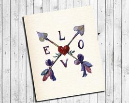 Love And Arrows 8x10 Arrow Wall Art Poster Print - $7.00+