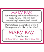 MARY KAY Catalog or Address LABELS, 30 Personalized Labels - $1.75