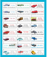 Old CLASSIC CARS Personalized Return Address Labels - 30 labels per sheet - $1.75