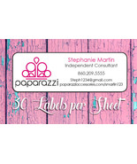 Paparazzi Catalog Labels, 30 Personalized Return Address, Home Parties - $1.75