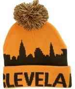 Cleveland City Skyline Adult Size Winter Knit Beanie Hat Cap Orange/Brown - $11.95