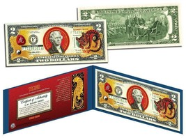 Chinese 12 Zodiac YEAR OF THE TIGER Colorized USA $2 Dollar Bill Certified - $17.21