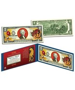 Chinese 12 Zodiac YEAR OF THE TIGER Colorized USA $2 Dollar Bill Certified - €15,54 EUR