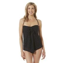NWT Jaclyn Smith Women's Flyaway Lace Swimsuit Size 12 Bathing Suit Blac... - $18.04