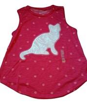 NWT Arizona Girl's Tank Top Shirt Large 10.5 - 12.5 Plus Pink Cat - $10.44