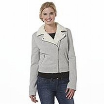 NWT $60 Bongo Junior's Knit Moto Jacket Medium - $25.64