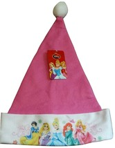 NWT Disney Princess Christmas Santa Hat Felt Pink Girl's - $5.69
