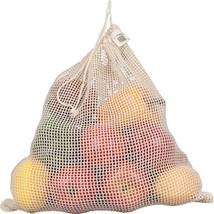 ECOBAGS® Organic Net Drawstring Bag  Reusable Drawstring Produce Bag/Large - $9.49