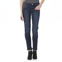 NWT $42 Bongo Junior's Dark Blue Distressed Cropped Jeans Size 1 Denim C... - $18.99