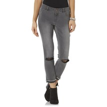 NWT $48 Bongo Junior's Deconstructed Cropped Colored Jeans Size 7 Gray B... - $21.84