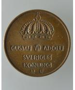 Swedish 2 ORE SET: TWO 1955 Gustaf VI Adolf Sve... - $16.00