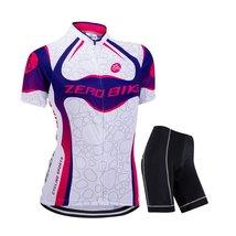 ZEROBIKE Women's Short Sleeve Cycling Jersey Jacket Cycling Shirt Quick Dry B... - $28.70