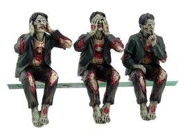 Walking Dead Zombie Undead See Hear Speak No Evil Set of Shelf Sitters C... - $18.80
