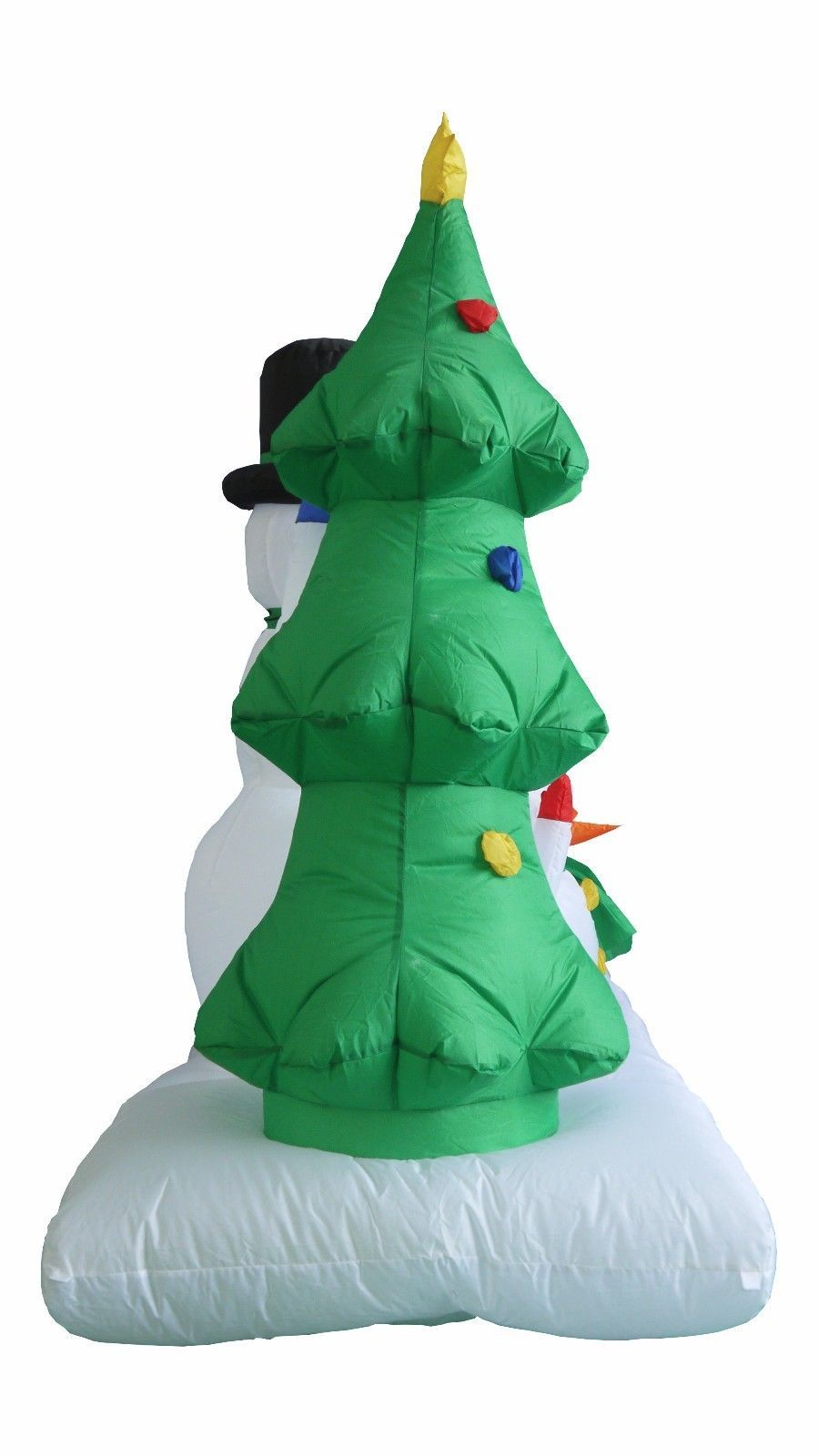 Christmas inflatable snowman snowmen penguin tree blowup for 57in led lighted peacock outdoor christmas decoration