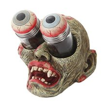 Undead Zombie With Gouging Eyes Salt Pepper Shaker Holder Figurine by ATL - $24.75