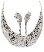 Crystal Rhinestone Necklace Earring Set Fancy R... - $59.28