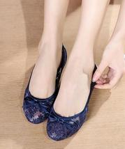Navy Blue Bridal Ballet Flats,Navy Flats,Navy Wedding Flats,reception shoes - $38.00
