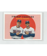 TWINS TERRORS (Berrios & Rosario) 2018 TOPPS ARCHIVES SP HIGH NUMBER CAR... - $12.16