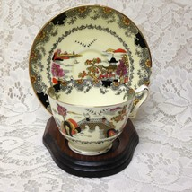 Vintage, Rare, Crown Staffordshire, England,Variant, Gaudy Willow Cup and Saucer - $66.45