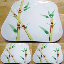 """Three California Weil Ware BAMBOO Pattern Bread and Butter Plates 5 1/2"""" - $9.95"""