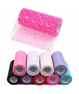 Glitter Sequin Tulle Roll 6 Inch 10 25 Yards Tutu Fabric Wedding Decor D... - $9.99+