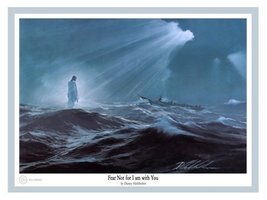 Fear Not For I Am With You by Danny Hahlbohm - 16x20 Unframed Matted Print - $44.95