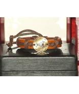 Vintage Style Adjustable Taurus Leather Bracelet - $6.93