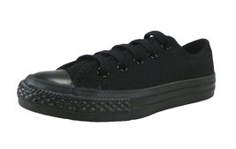 Converse Kids/Youth Shoes All Star Low Black Mono Sneakers (13) - $31.49