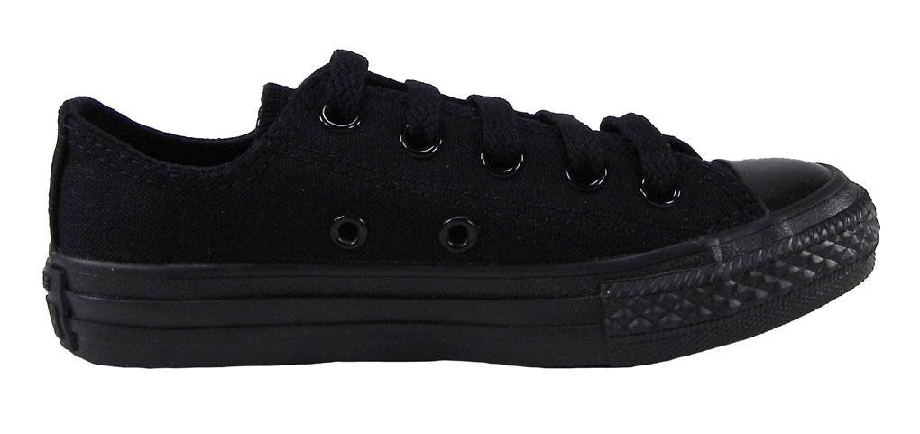 Converse Kids/Youth Shoes All Star Low Black Mono Sneakers (13)