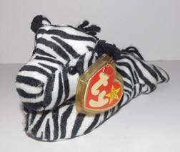 """Ty Beanie Baby Ziggy Plush 8"""" Zebra Stuffed Animal Retired with Tag 1995 - $9.99"""