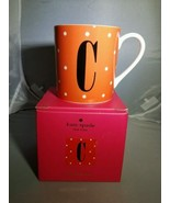 "Kate Spade Letter ""C"" Orange polka dot Coffee Mug - $21.00"