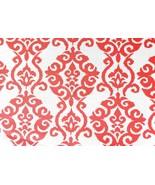 "Waverly Luminary Fabric Peachtini Damask Sun Shade 1.5 yds x 24"" Stripe ... - $17.81"
