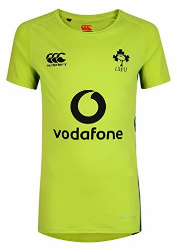 Canterbury Ireland Rugby Superlight Poly Training Tee Lime Punch, Small