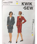Kwik Sew 2795 Misses Jackets and Skirt Sewing Pattern Sizes XS, S, M, L, XL - $12.00