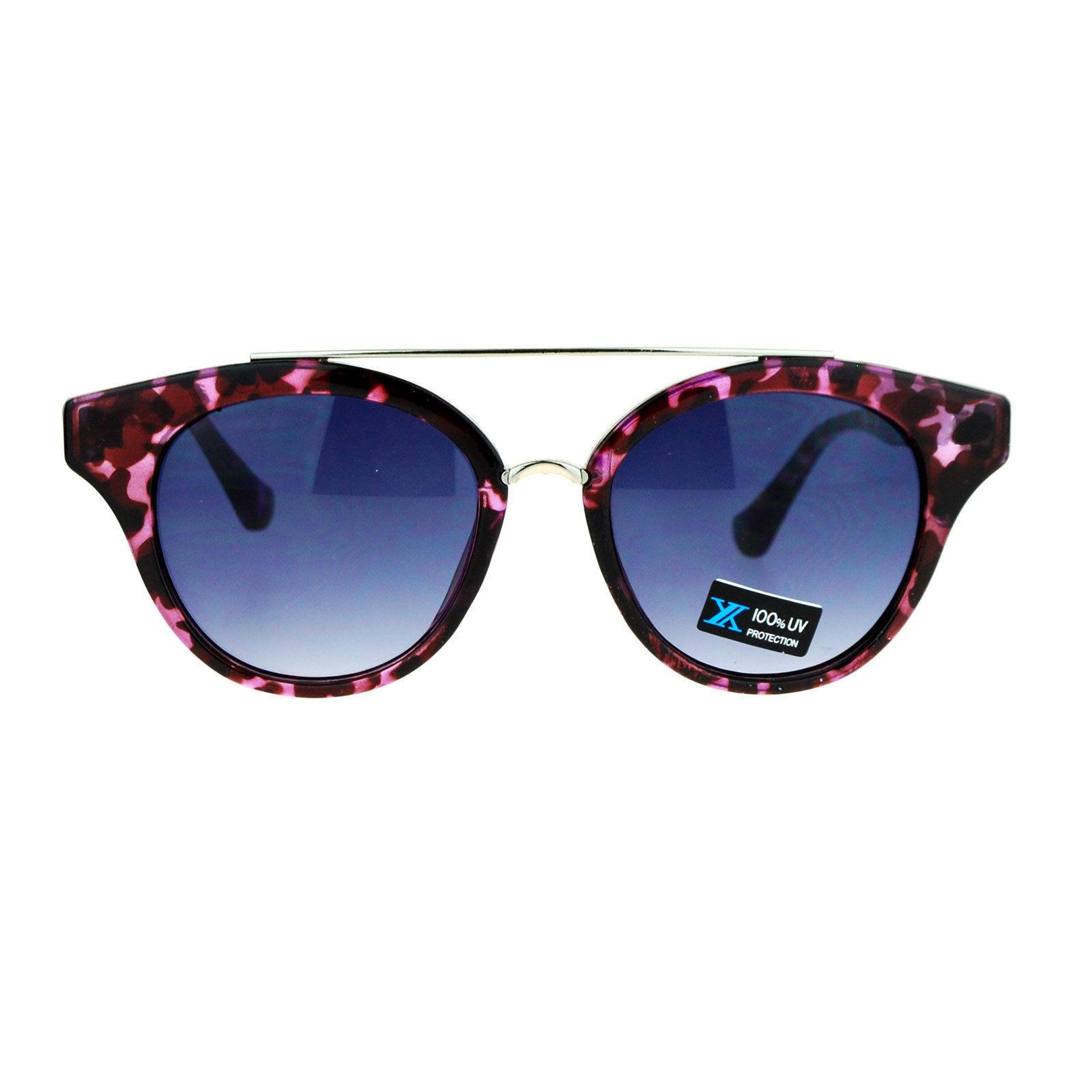 Womens Fashion Sunglasses Retro Designer Horn Rim Cateye Top Bar UV400