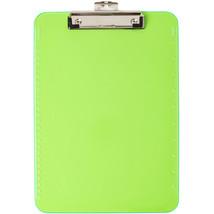 Low Profile Neon Plastic Clipboard-Green - $4.99
