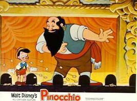 Disney Pinocchio with Stromboli Lobby Card - $22.86