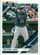 #130 Nelson Cruz Seattle 2019 Panini Donruss MLB Baseball Card AAA - $2.02