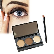 8 Pack - Eyebrow 3Color Powder Eye Brow Palette Makeup Shading Kit Brush... - $51.66
