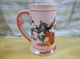 DISNEY MICKEY MOUSE THROUGH THE YEARS STEIN - 1993 - $75.00