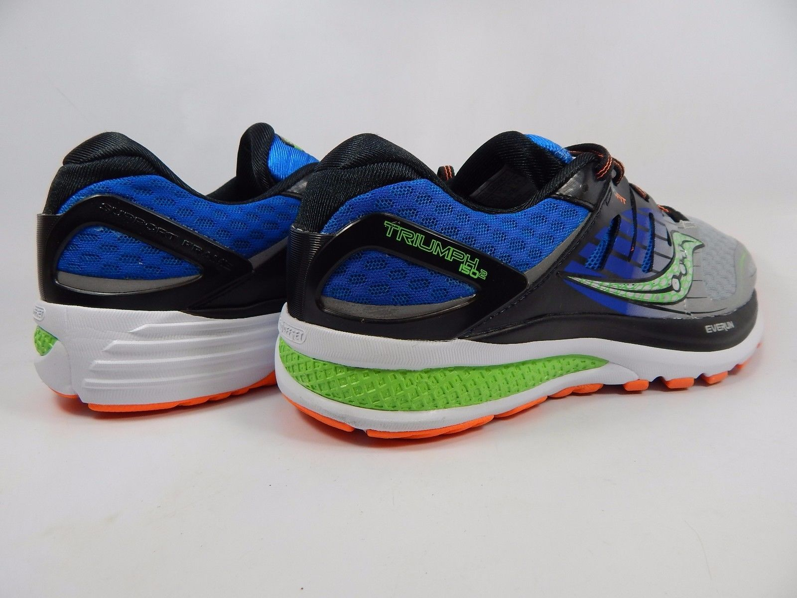 Saucony Hurricane ISO 2 Men's Running Shoes Sz US 10 M (D) EU 44 Silver S20290-1