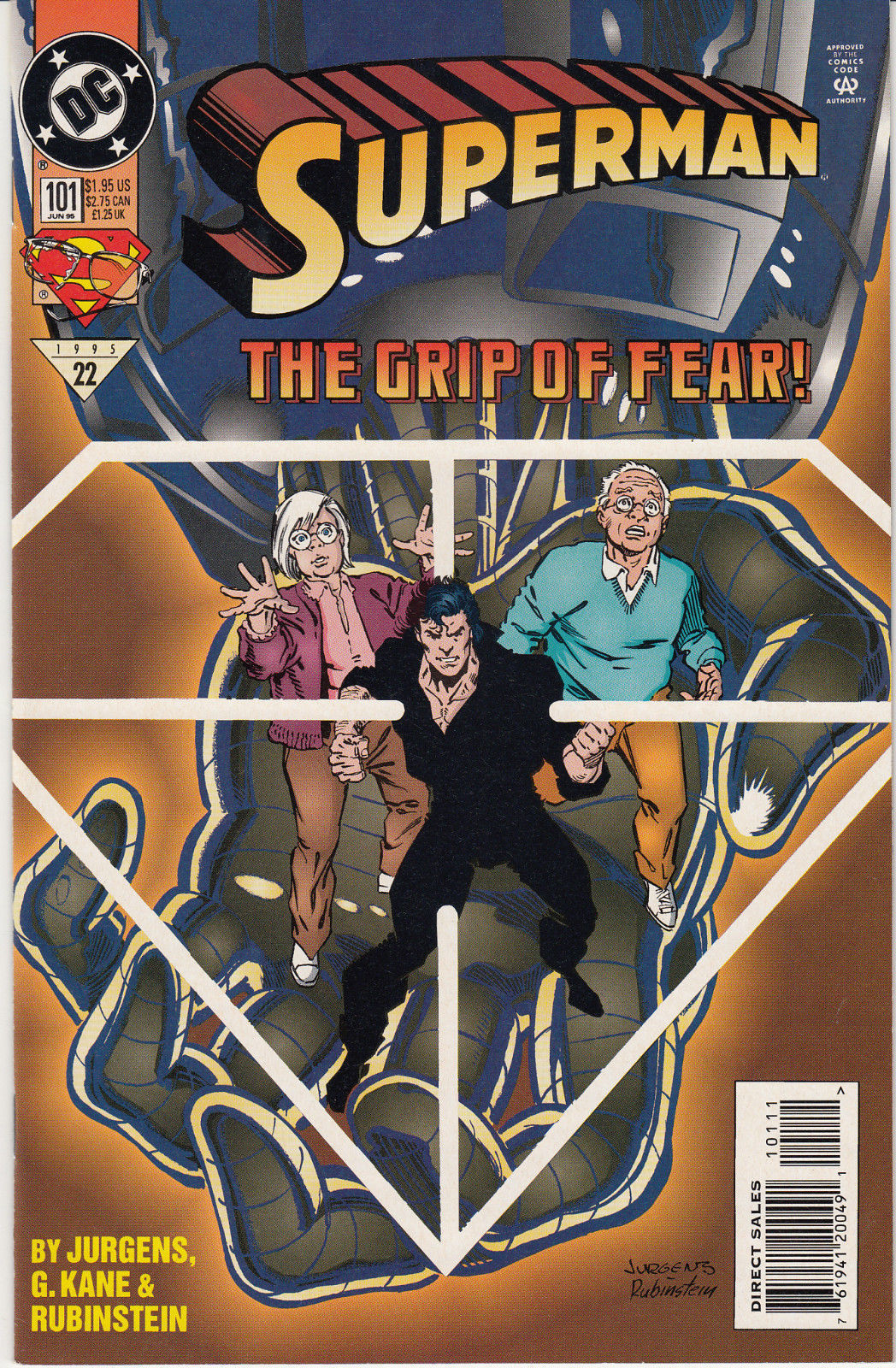 1995 DC Comics Superman The Grip of Fear #101