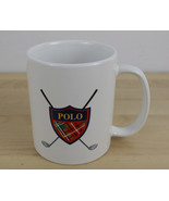 Polo Ralph Lauren Golf Coffee Mug Cup Polo Crest & Clubs Vintage 1997 - $19.79