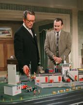 Danger Man Patrick McGoohan Denholm Elliott looking at toy car race trac... - $69.99