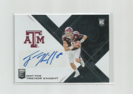 Trevor Knight (Texas A&M) 2017 Panini Donruss Elite Football Autographed Card - $18.59