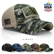 USA American Flag hat Detachable Baseball Mesh Tactical Military Army ca... - $28.60