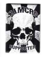 Sons of Anarchy TV Series SAMCRO Supporter Logo Refrigerator Magnet, NEW... - $3.99