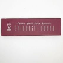 Vintage Drueke Cribbage Board Natural Finish Hardwood 2050 in Original Box - $39.59